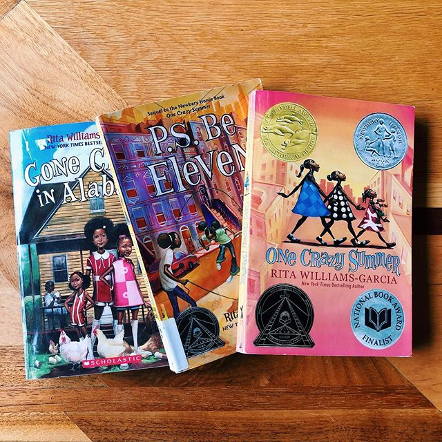 The Gaither Sisters Collection // Five Stars!  I truly loved these three books: One Crazy Summer P.S Be Eleven Gone Crazy in Alabama  The three books follow the Gaither sisters on a journey from flying to Oakland, CA to meet their mother Cecile who's a Blank Panther and learning about racism, oppression and the unification of black communities, to navigating grief and loss, the struggles of puberty and adolescent growth, coming into oneself and the power of family and the bruises that are left on those who are hurt by familiar trauma as well as racial trauma.  I believe this collection should be a required reading for middle aged kids. And I think even adults can learn a lot from these three young ladies.  If you haven't added this collection to your summer list, I recommend that you do now!