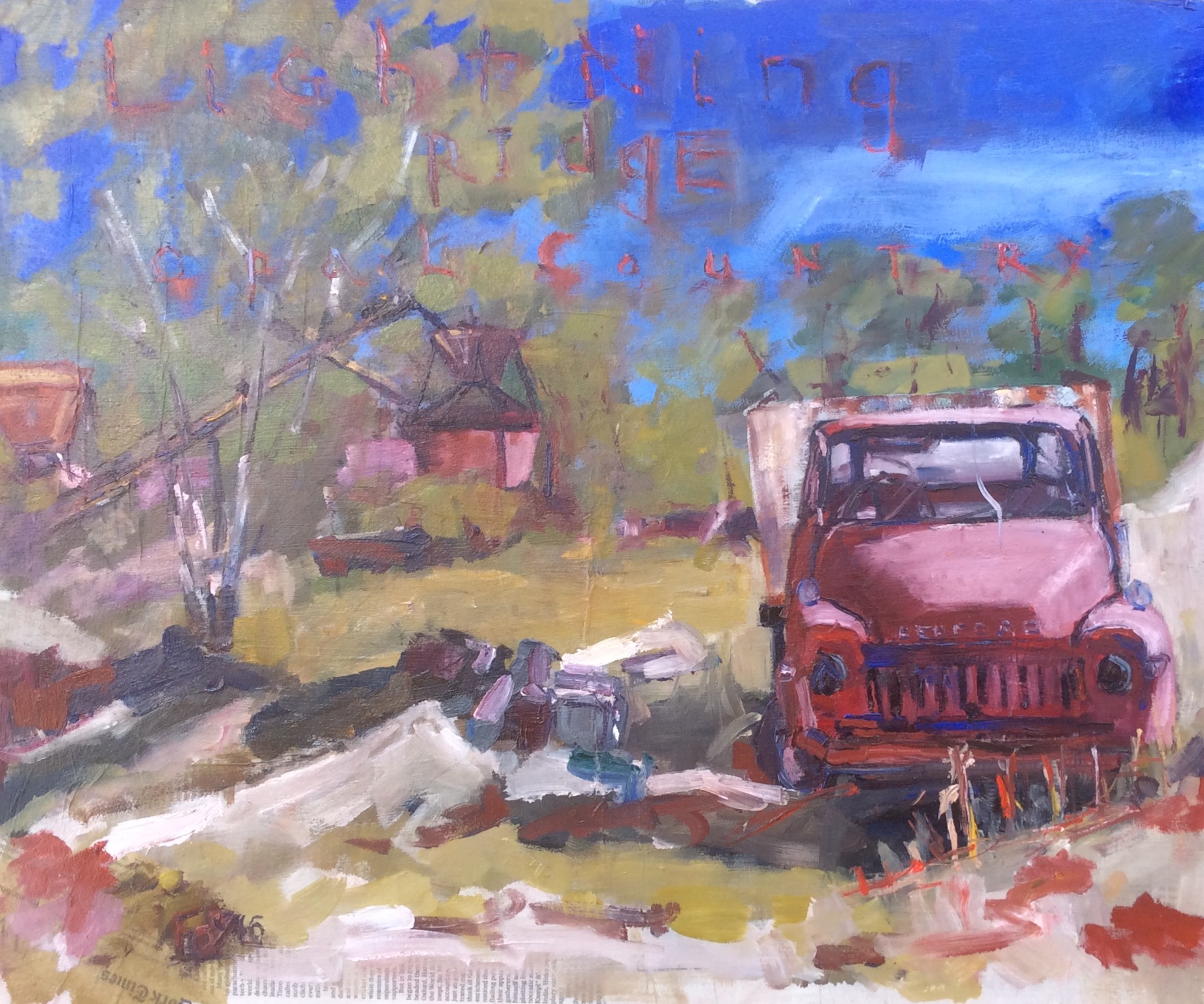 Red Bedford. Lightning Ridge. New South Wales.