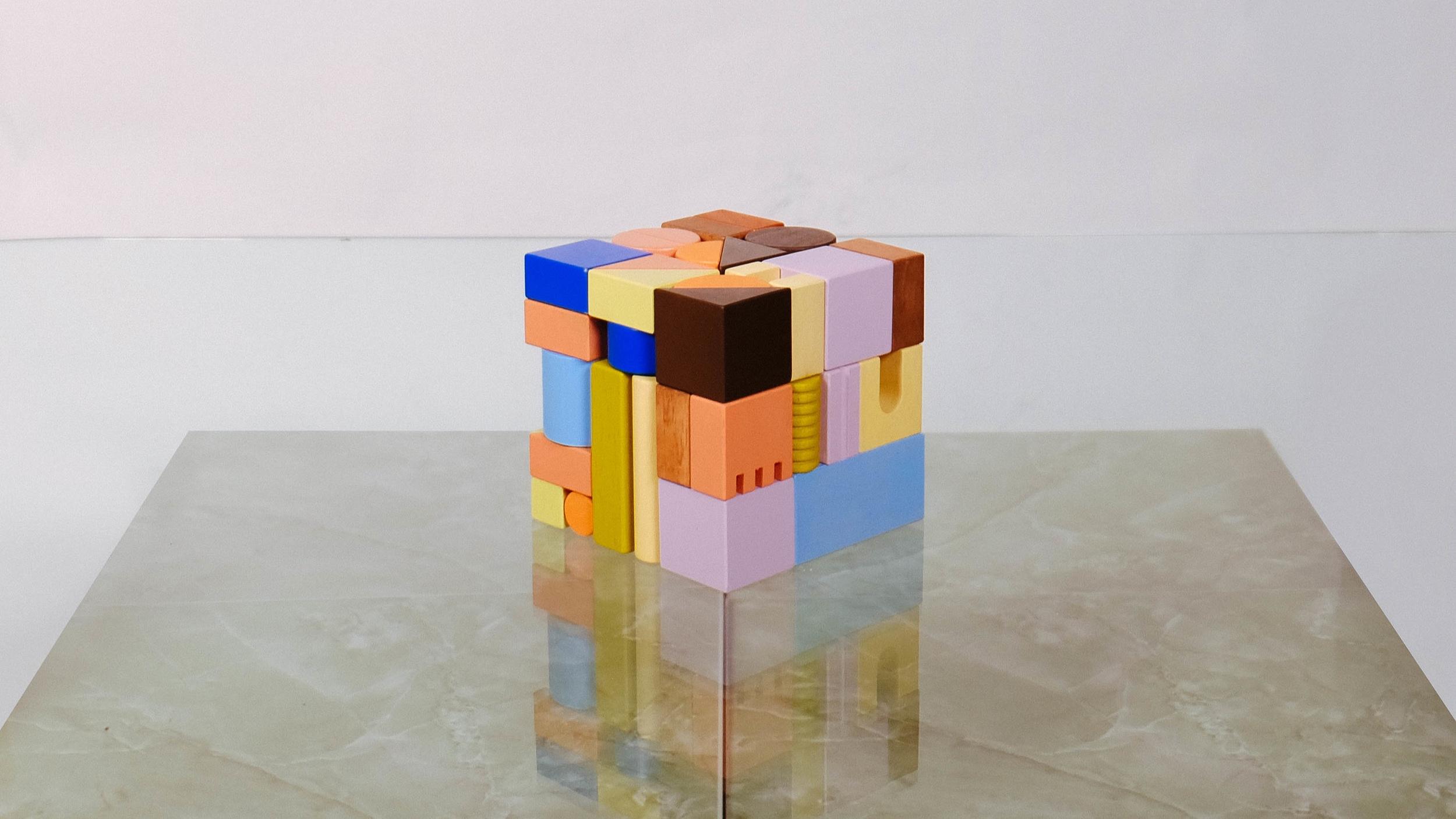 Mini Building Blocks - in multicolor cubes