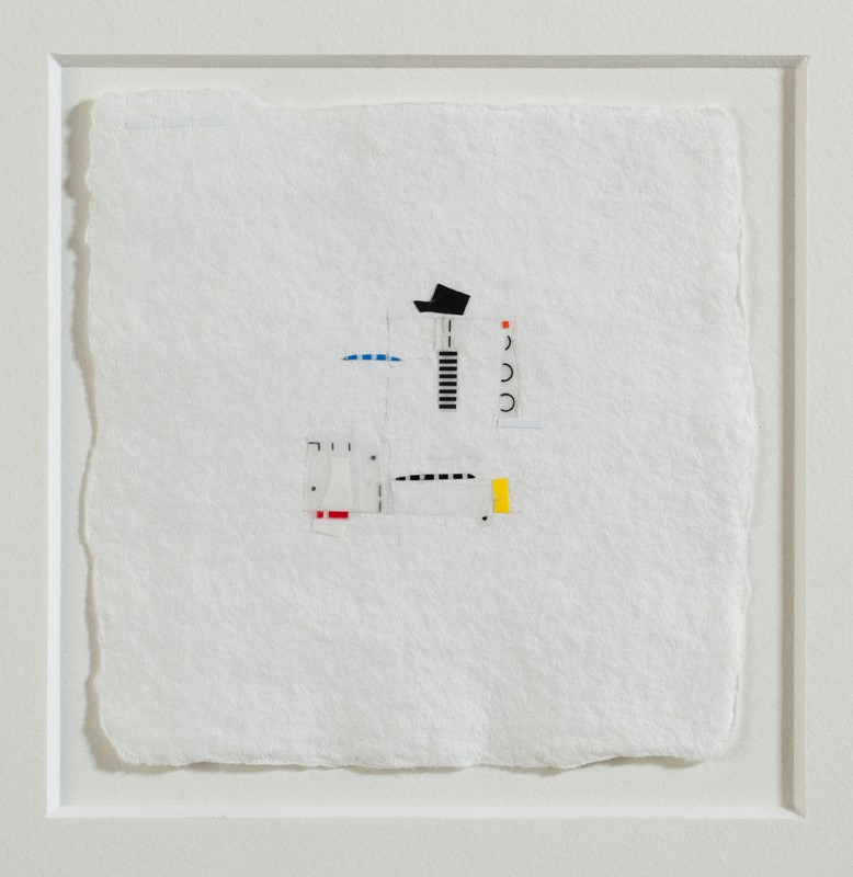 Dawdle , 2011, linetape on paper, 2.5 x 2.5 inches (sold)