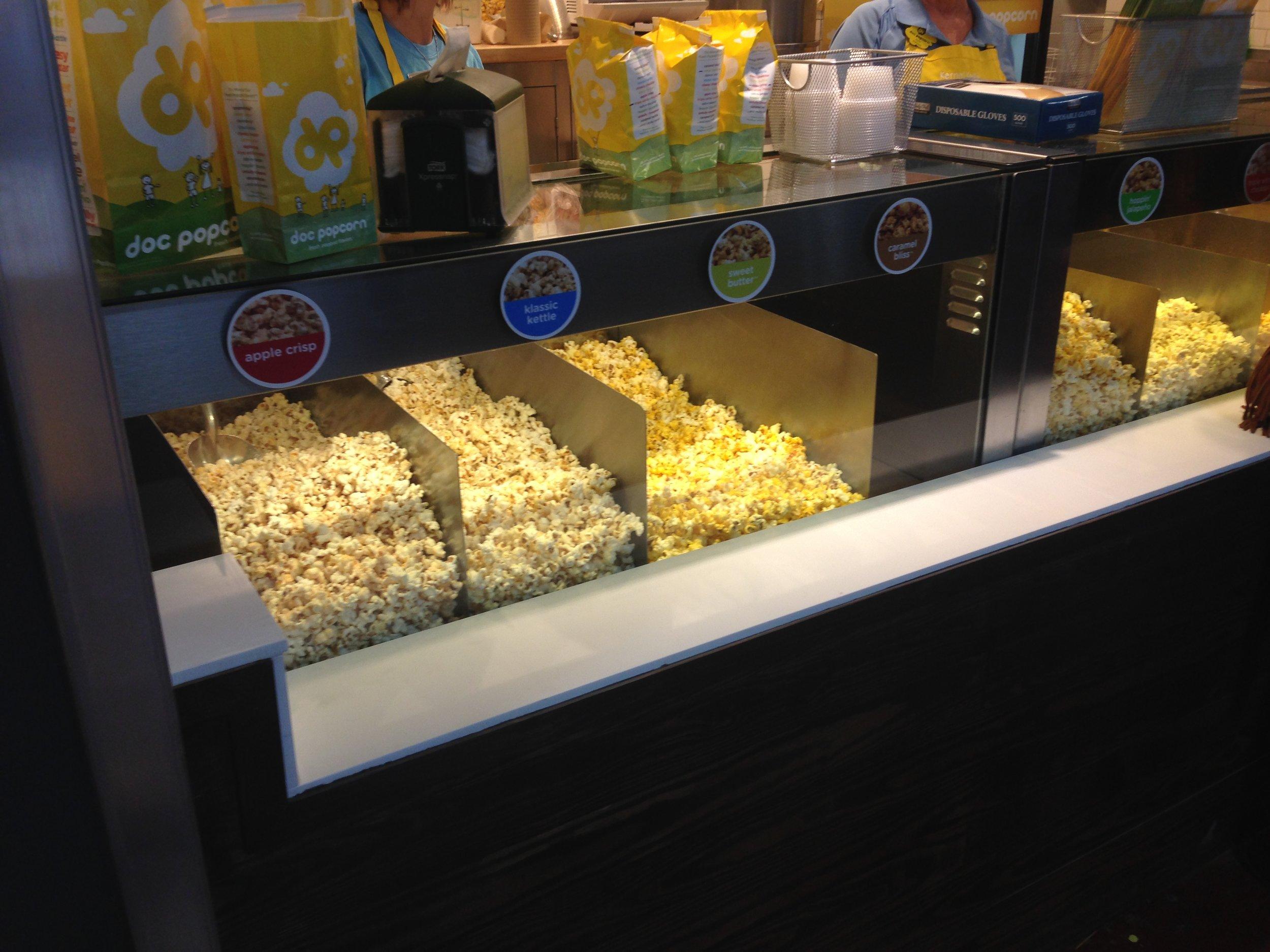 Popcorn kept hot and fresh