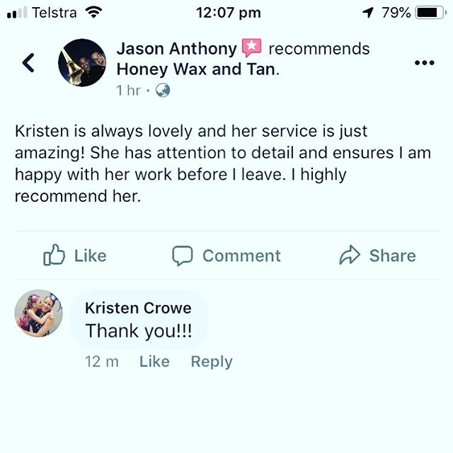 Reviews like this make me smile 😊 thanks Jason! #malewaxing #northcote #malewax #waxing