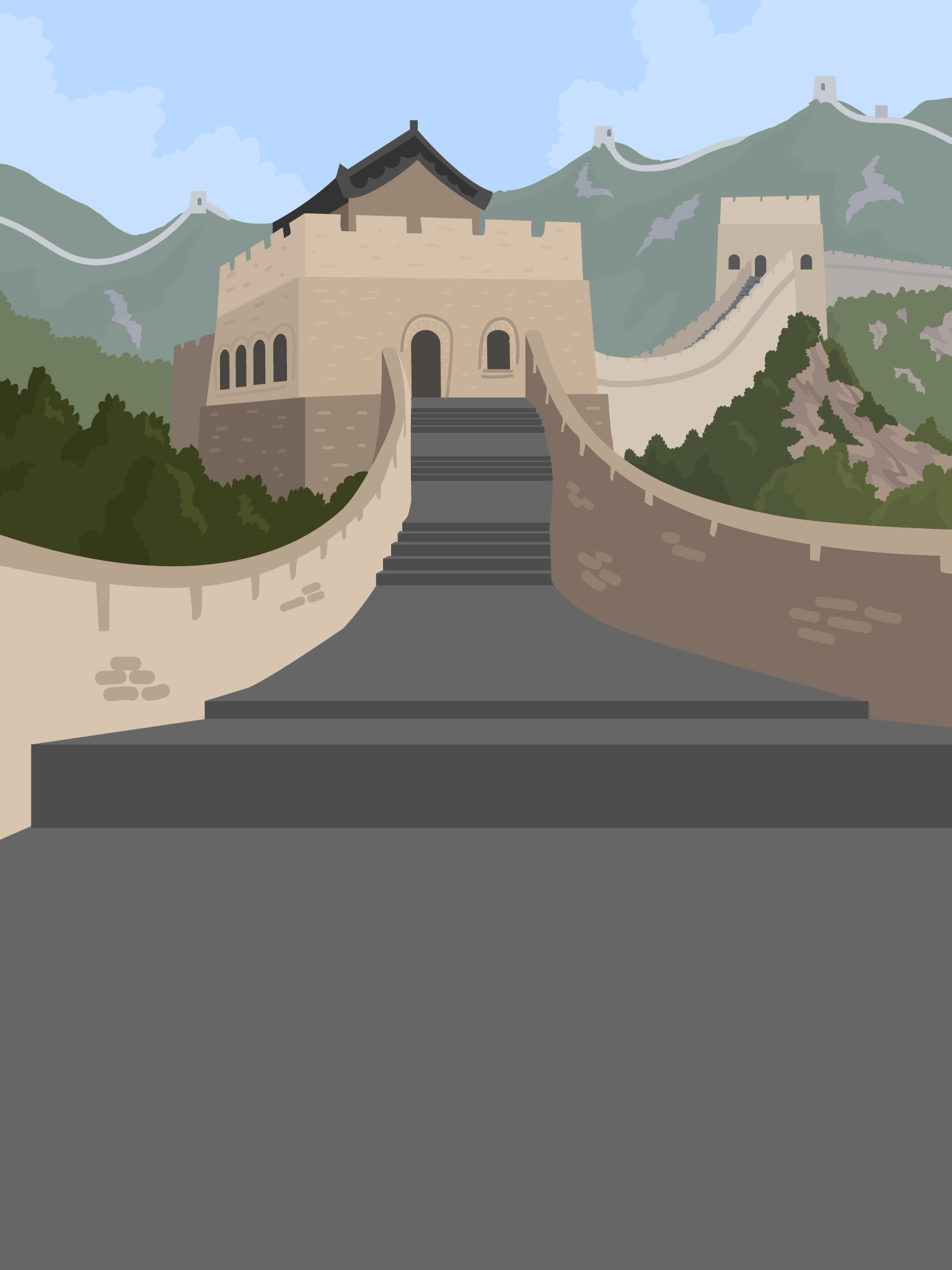 The Great Wall of China - this is a background created for a social app.