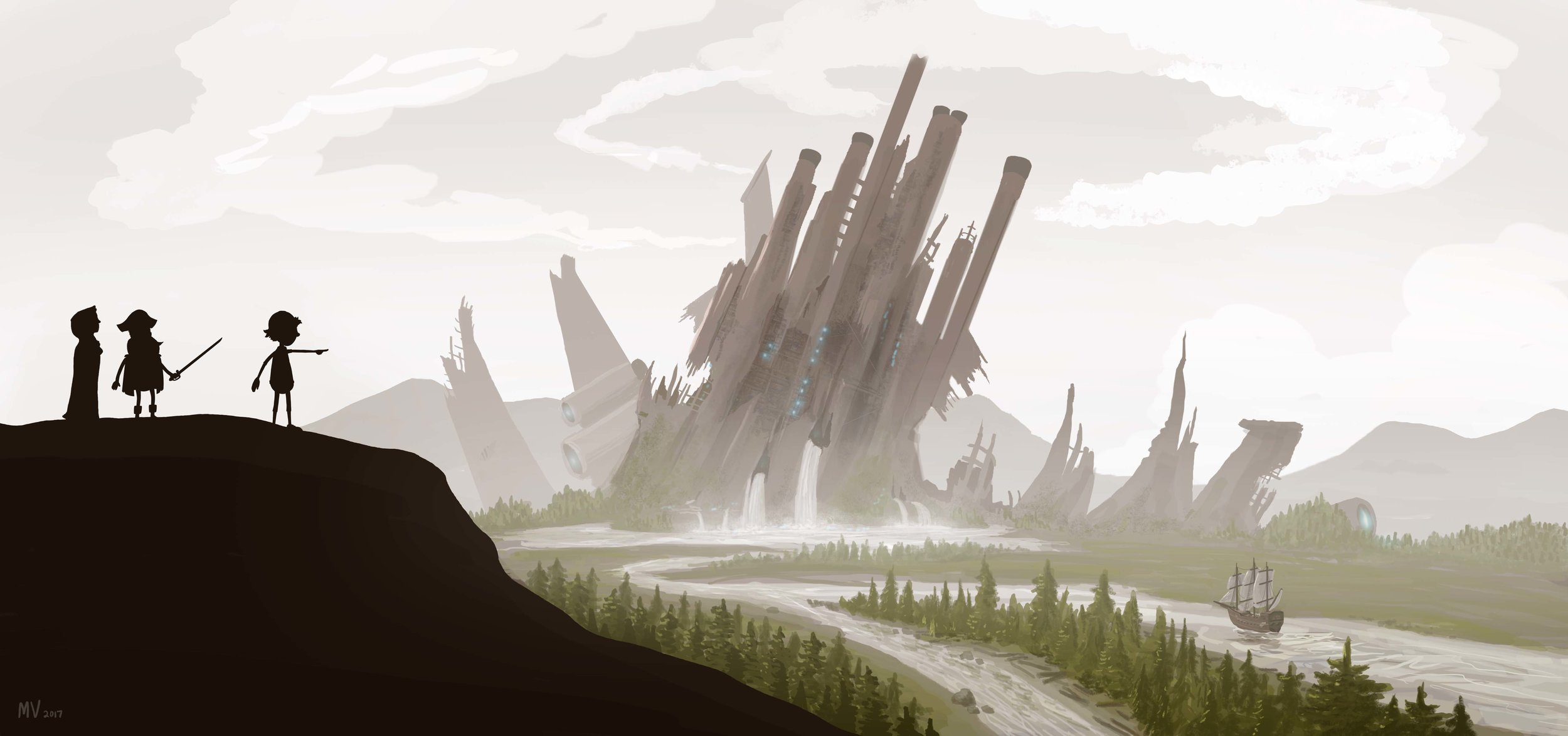 Digital Painting - this is a piece of concept art for a personal animation project that a friend and I are working on.
