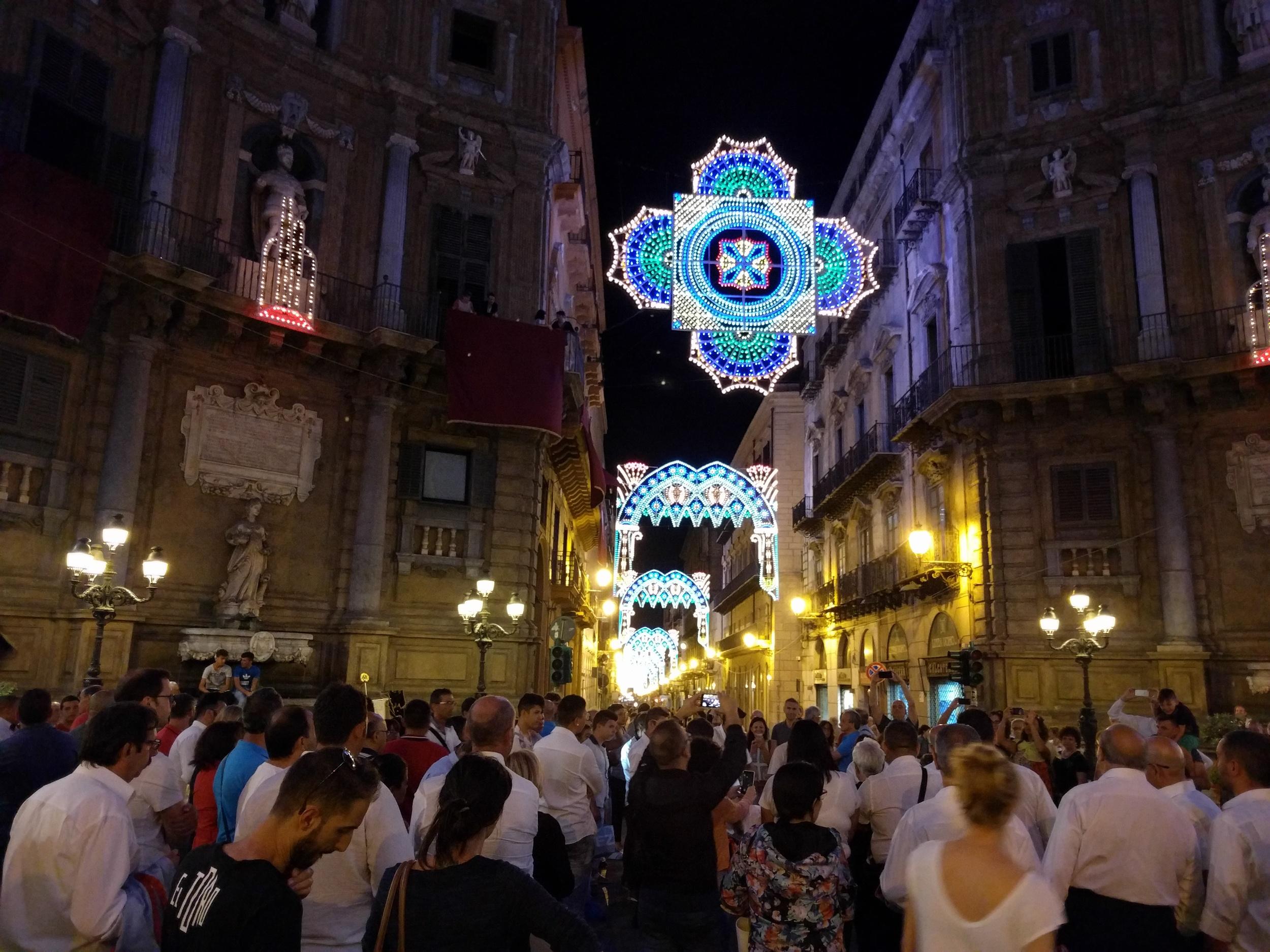 Santa Rosalia festival on July 15 in Palermo, Sicily