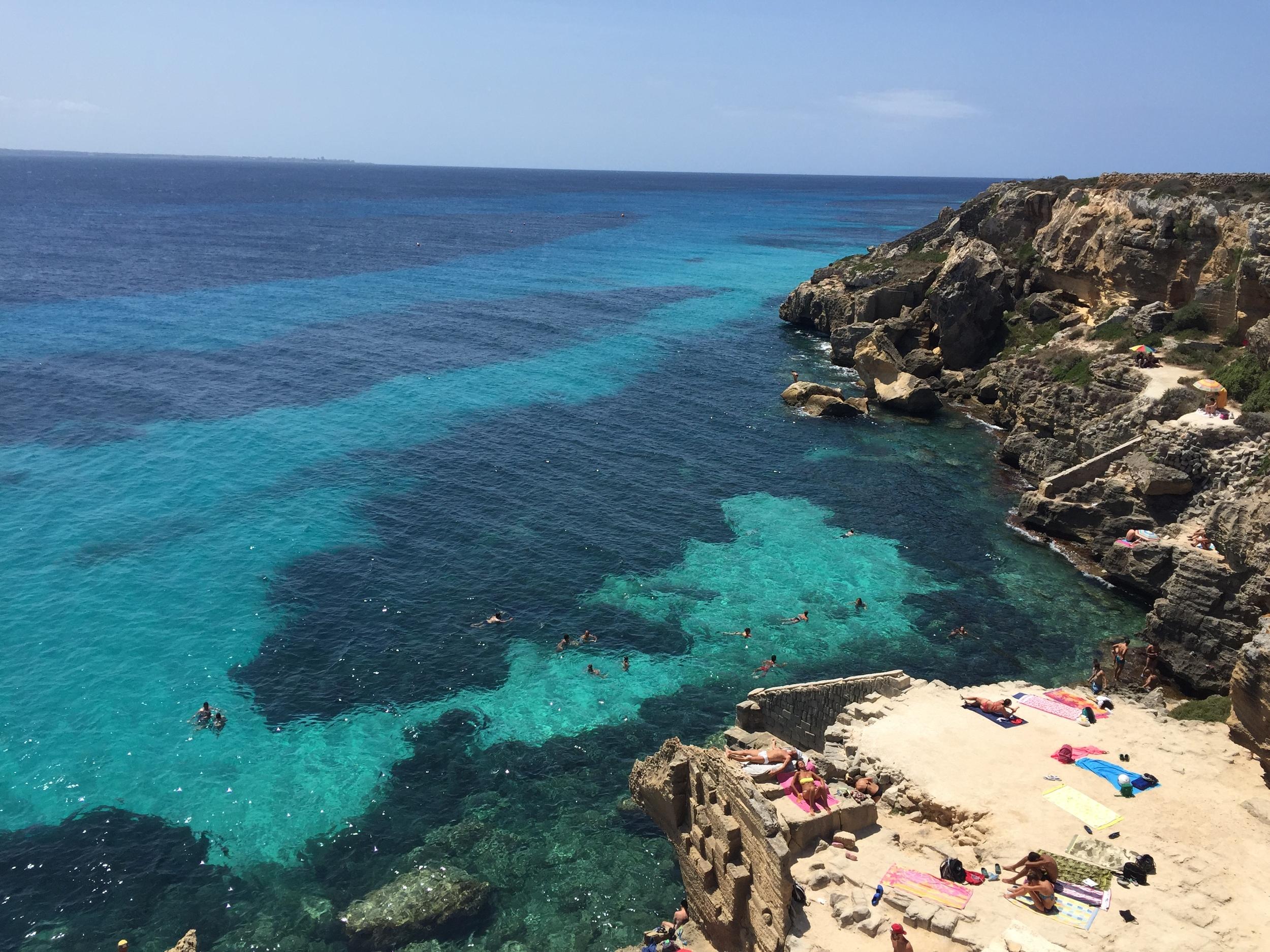 Bue marino beach, Favignana