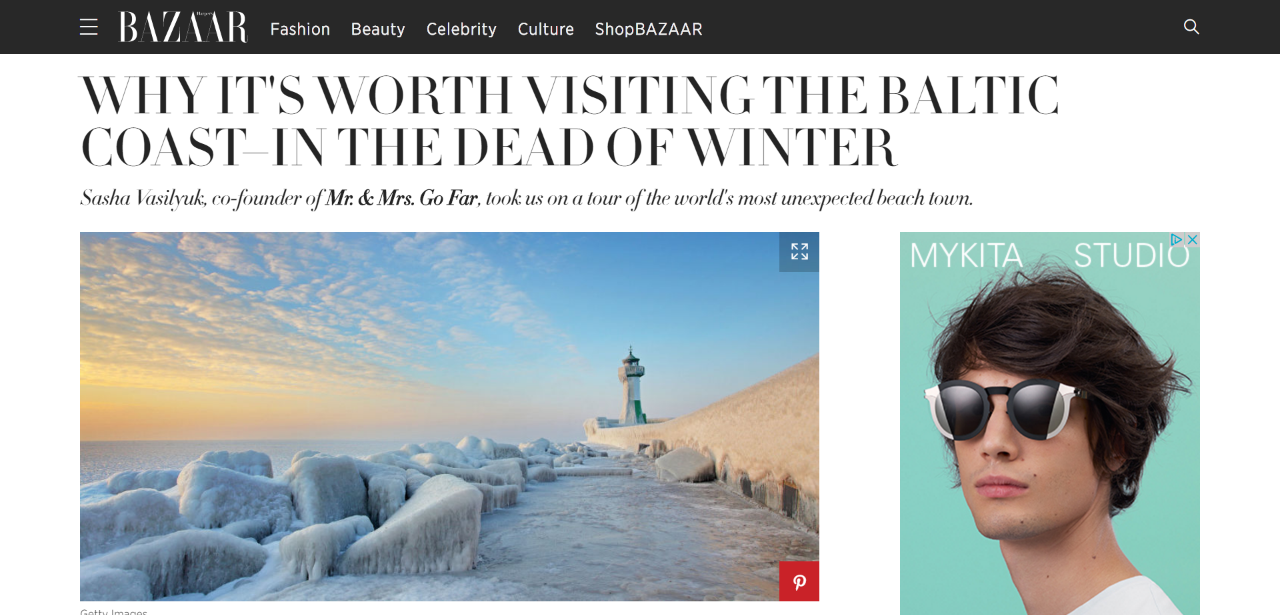 Why It's Worth Visiting the Baltic Coast - in the Dead of Winter, Harper's Bazaar