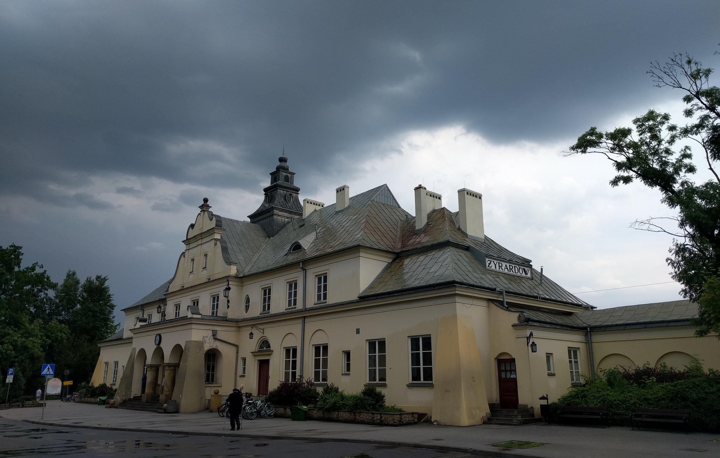 Żyrardów's train station.