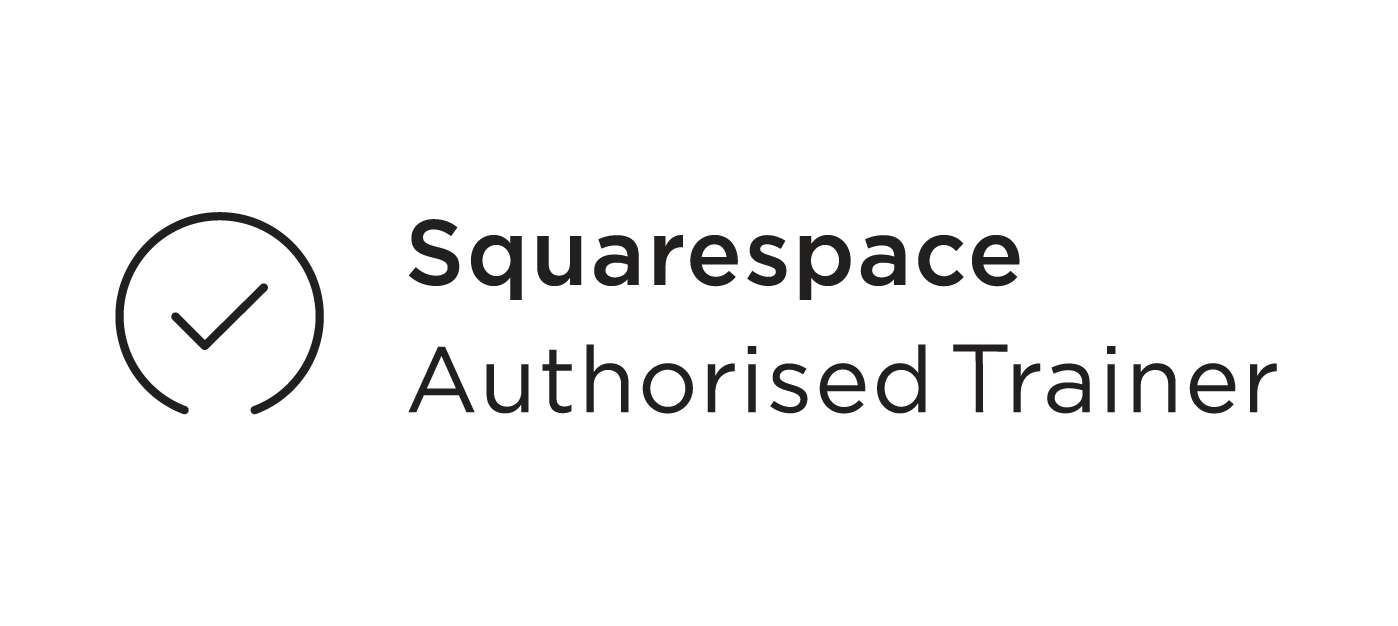 Squarespace authorised trainer website training new websites