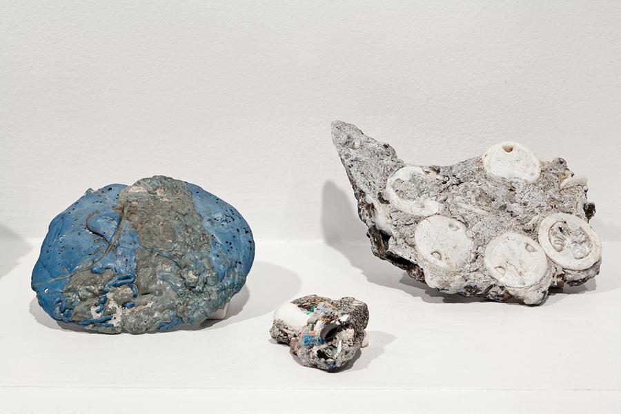 Plastiglomerates , 2013; found plastiglomerate samples