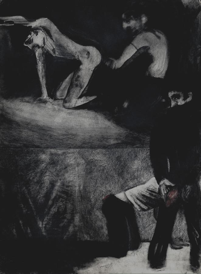 """The Anvil No. 2 , 1975; graphite on paper; 30 x 22"""""""