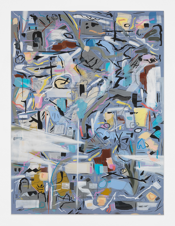 """Old Sounds Good,  2016 Mixed media on sheetrock panel 48 x 36"""" (121.9 x 91.4 cm)"""