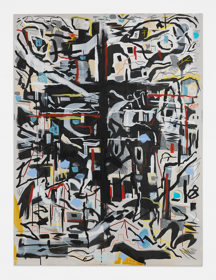 """A Gate to Heaven,  2016 Mixed media on sheetrock panel 48 x 36"""" (121.9 x 91.4 cm)"""