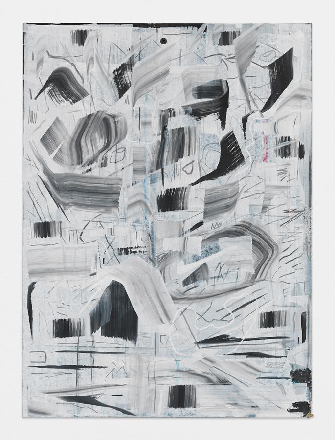 """Dry Eyed,  2016 Mixed media on sheetrock panel 20 x 14.75"""""""