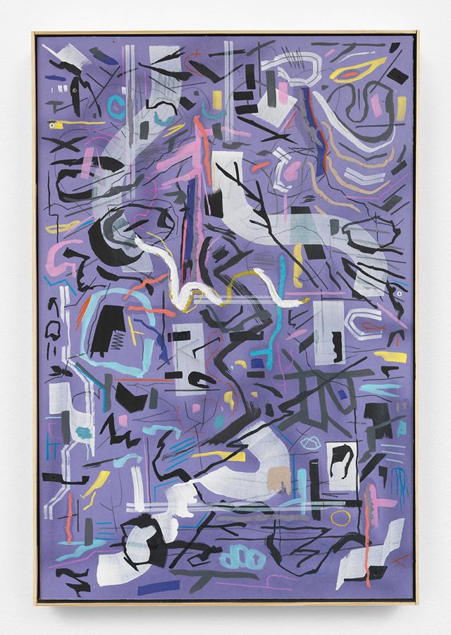 "Animal Dance,  2016 Mixed media on sheetrock panel in artist's wooden frame 36 x 24"" (91.4 x 61 cm)"