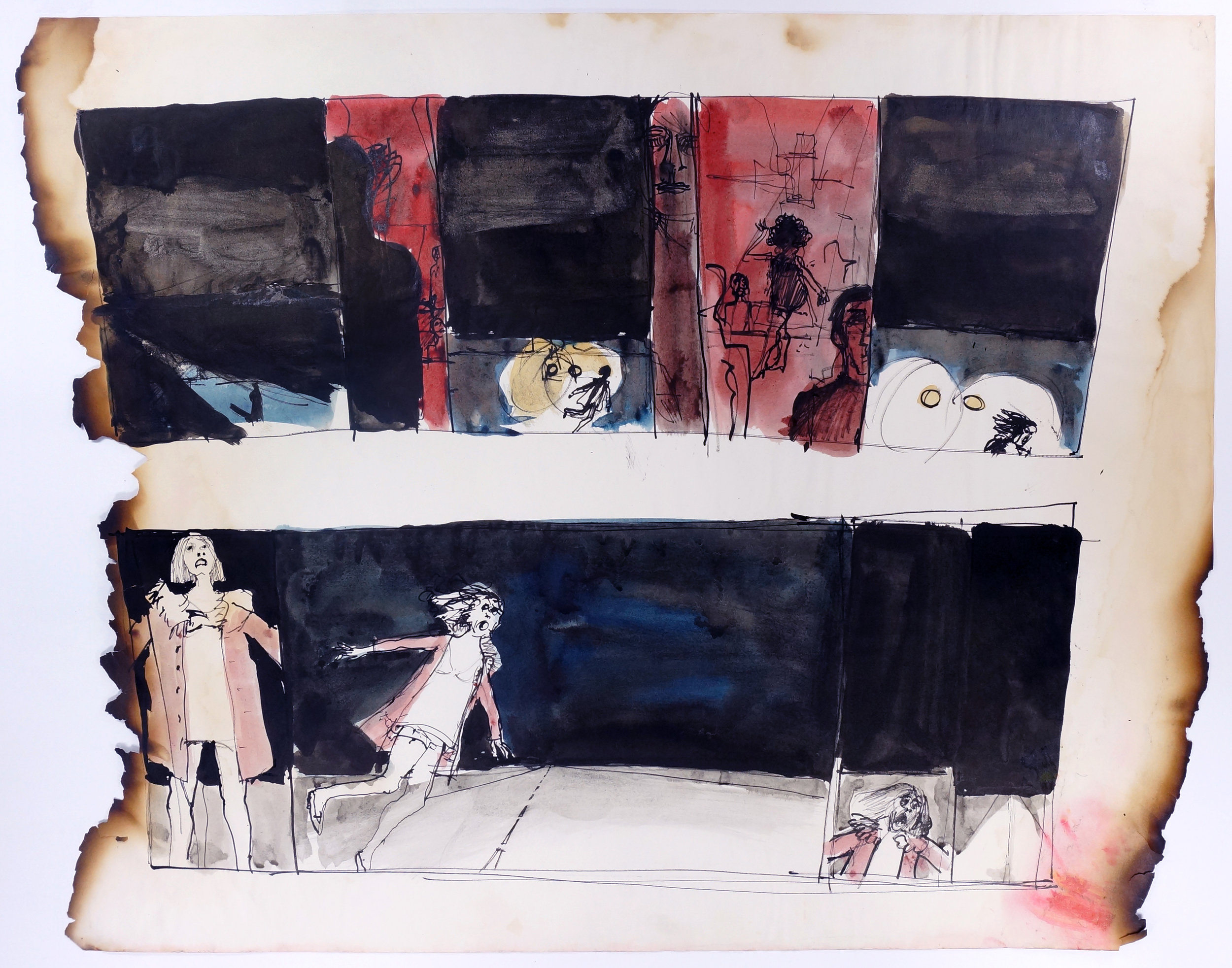 """Untitled, 1967 Ink on paper, framed Approximately 18.5 x 24"""""""