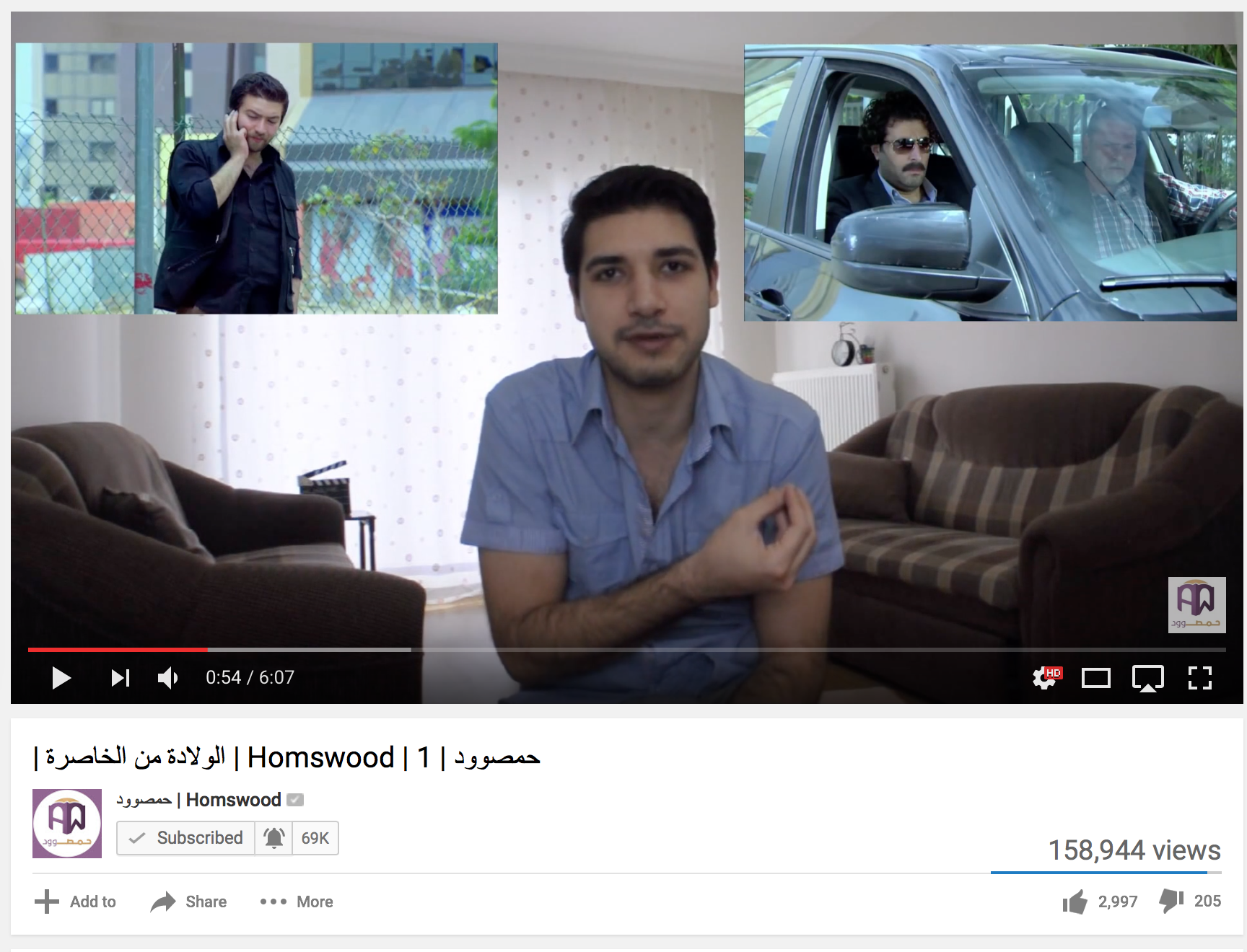 Homswood's earliest episodes were filmed out of his living room.