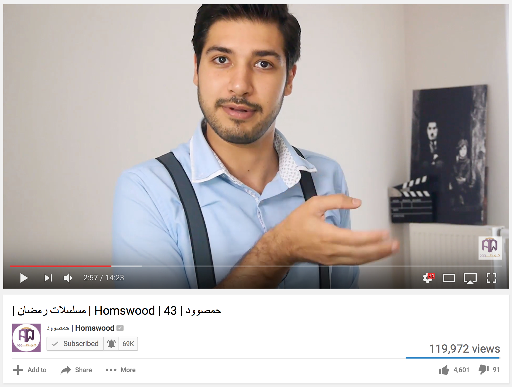 Homswood posted videos more frequently in Ramadan 2016, which is considered peak season for Syrian, Egyptian, and other television serials.