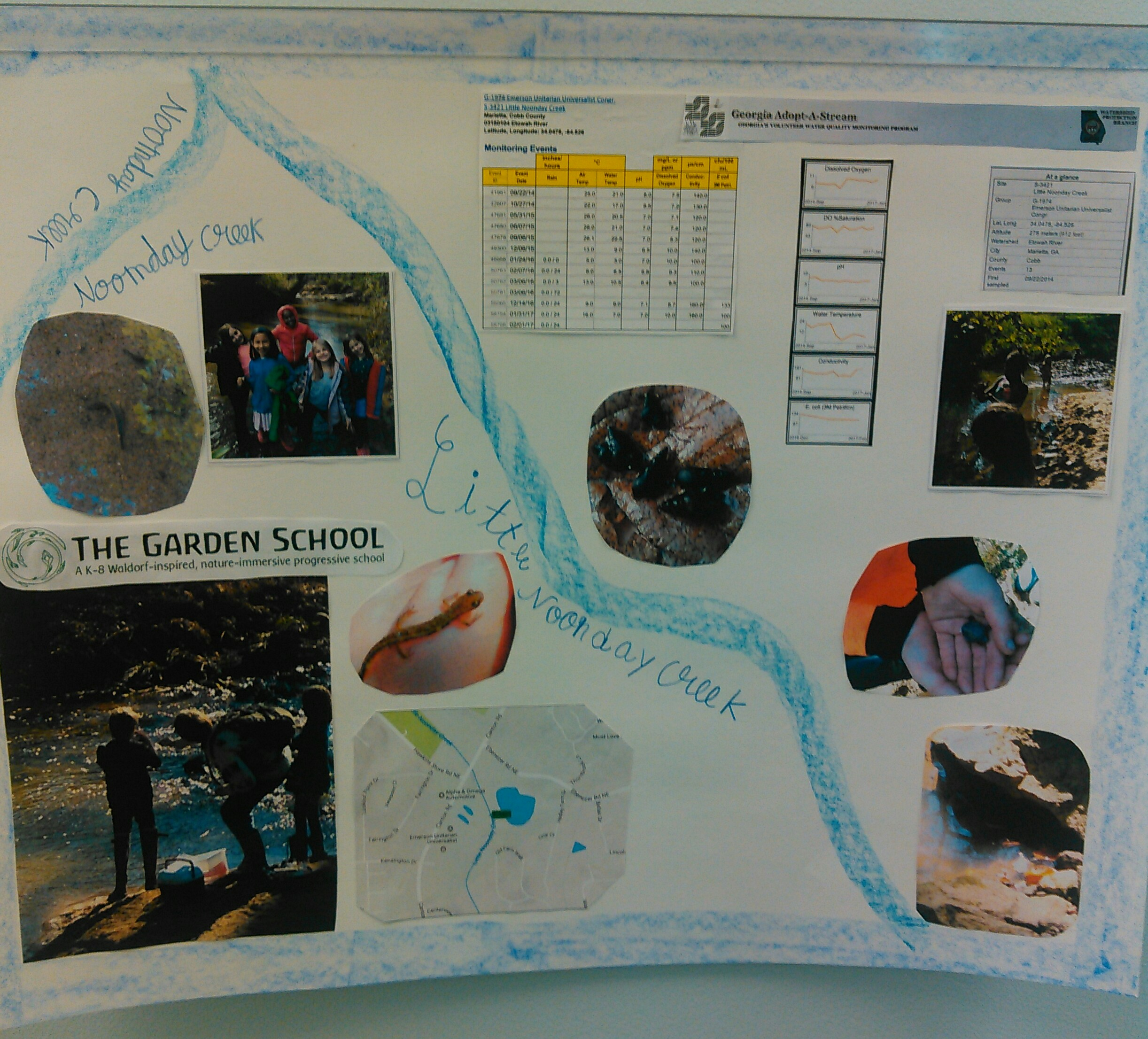 The Garden School Adopt-a-Stream service poster will be displayed at Cobb County Watershed offices.