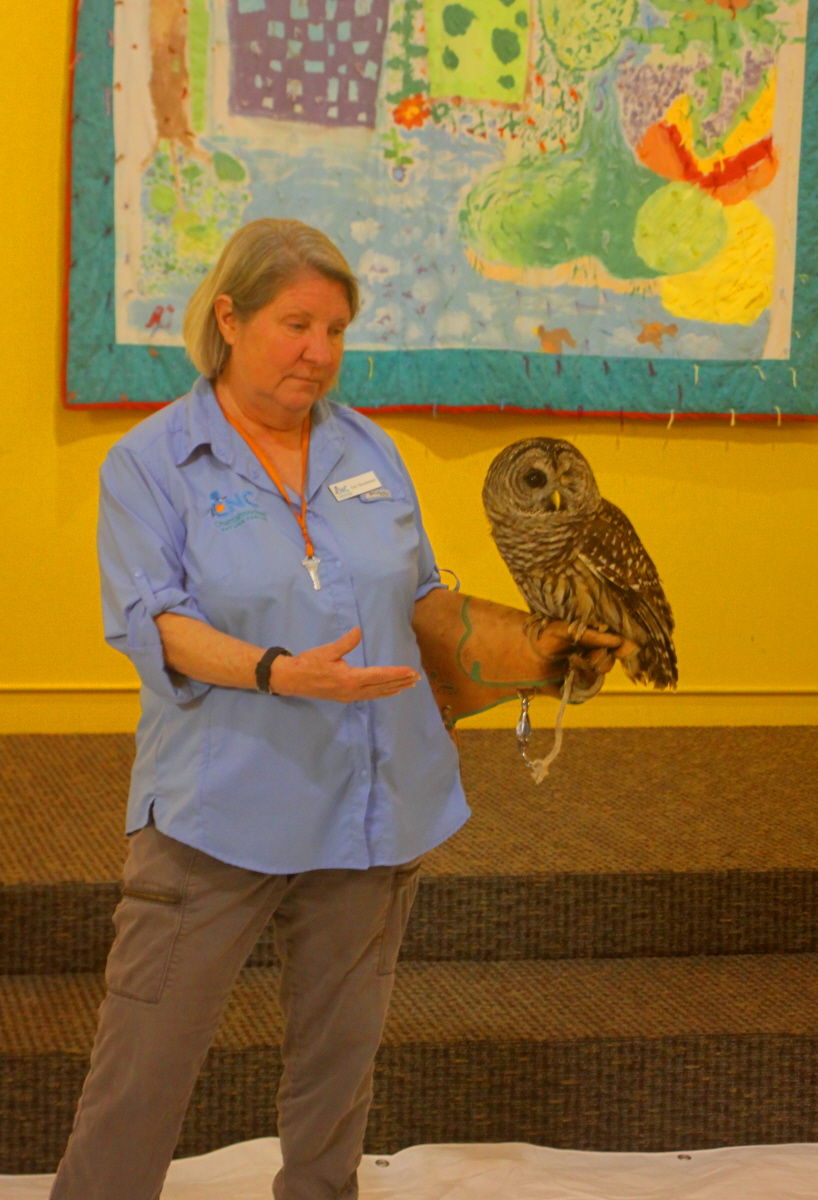 Ki Eve from CNC shows us a barred owl email.jpg