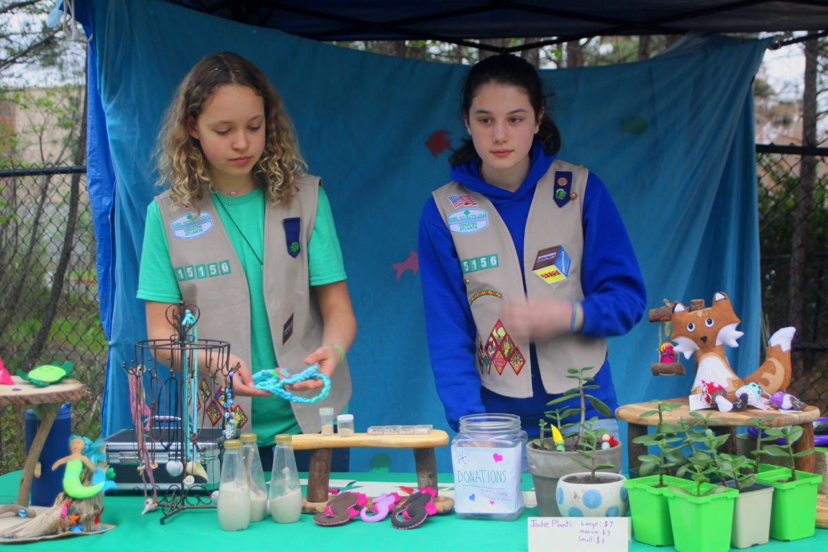 Girl Scouts working a booth email.jpg