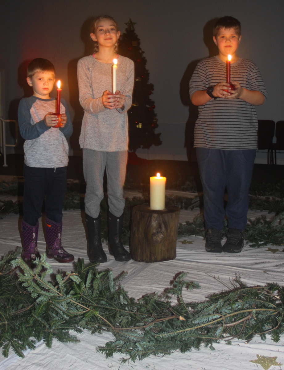 HomeSchool students at the Advent Spiral email.jpg