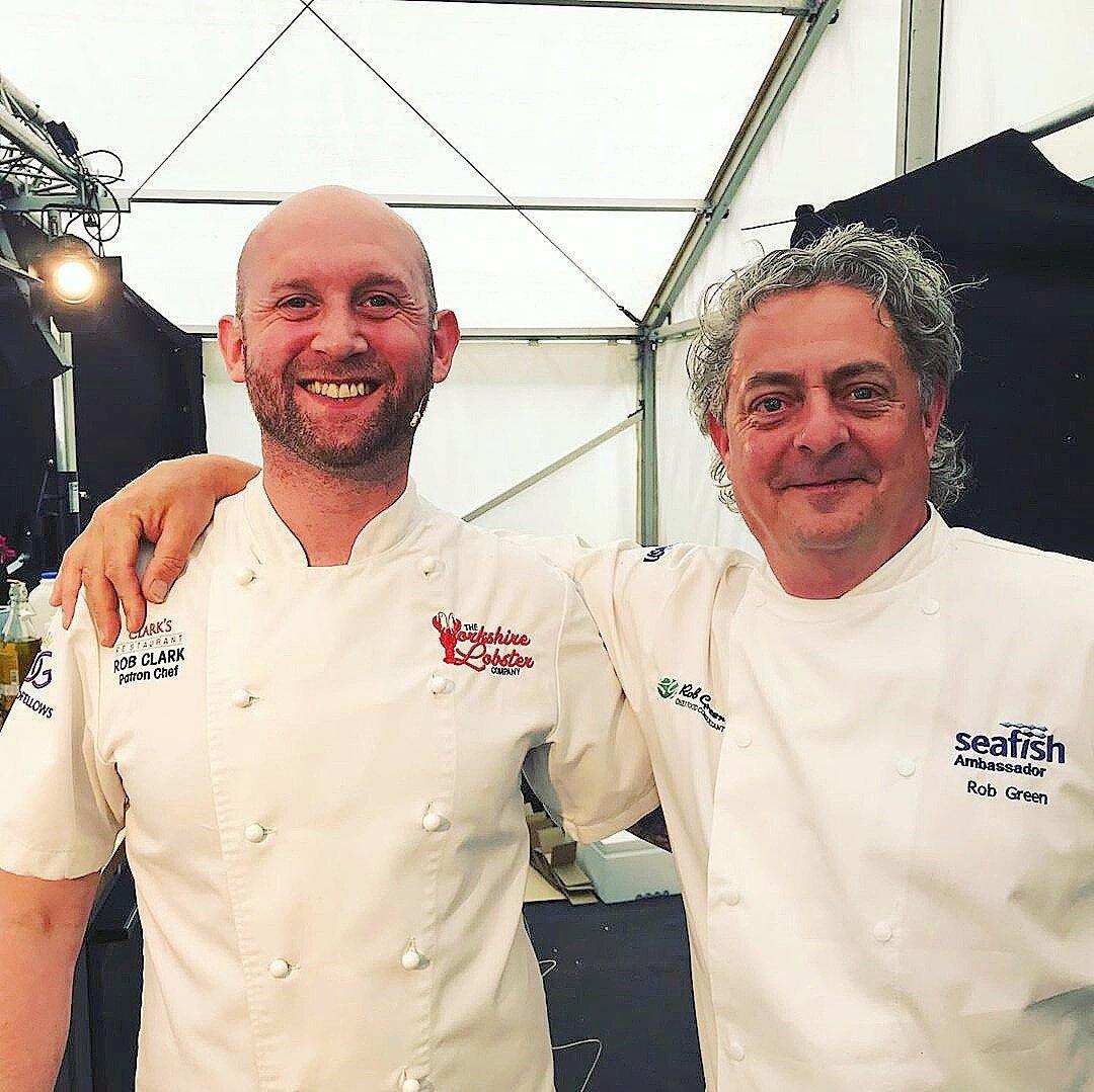 Bridlington Seafood Festival - July 2019 - Rob Clark & Rob Green - Seafood Ambassador