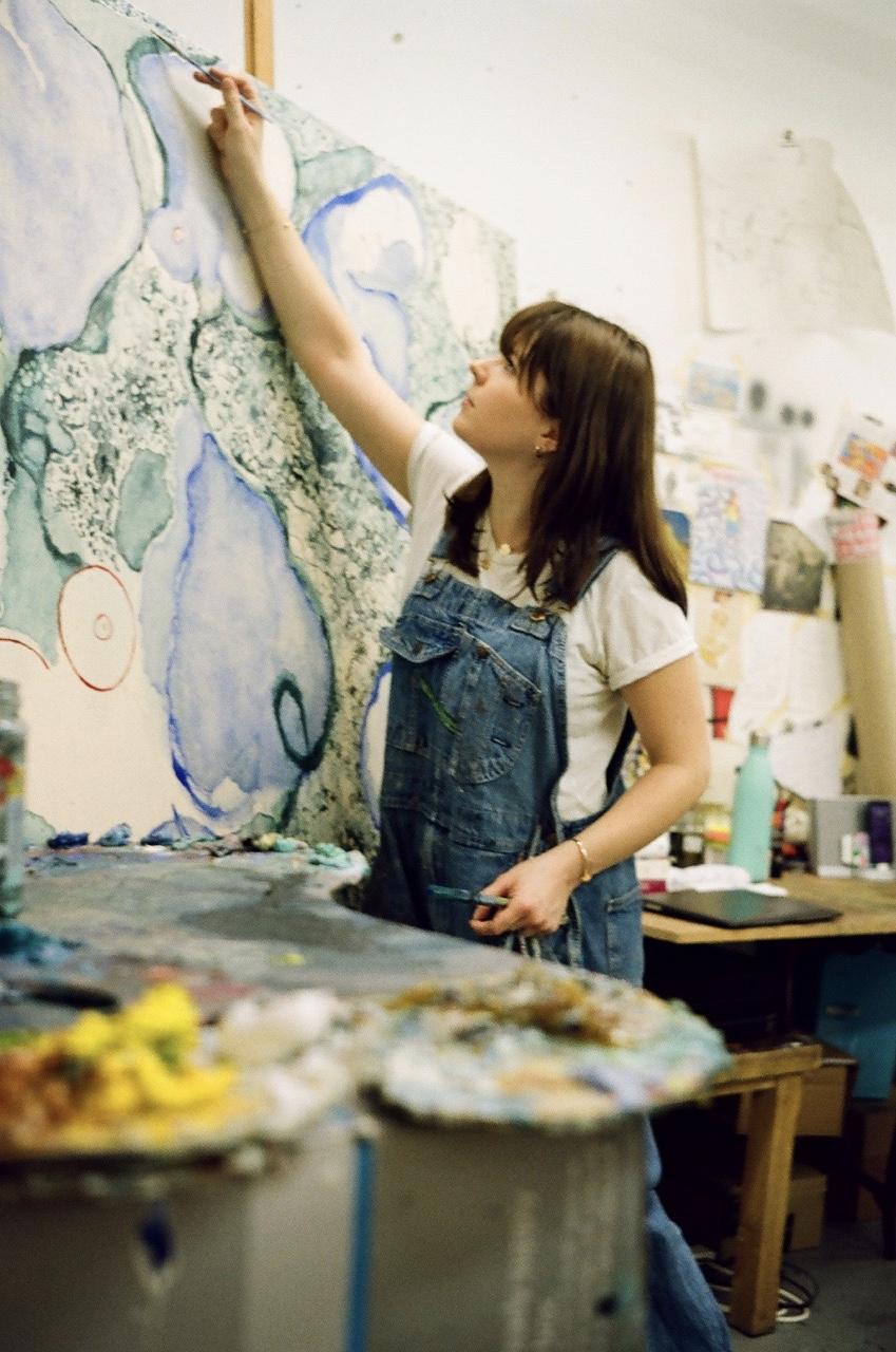 Venetia Berry in the Studio