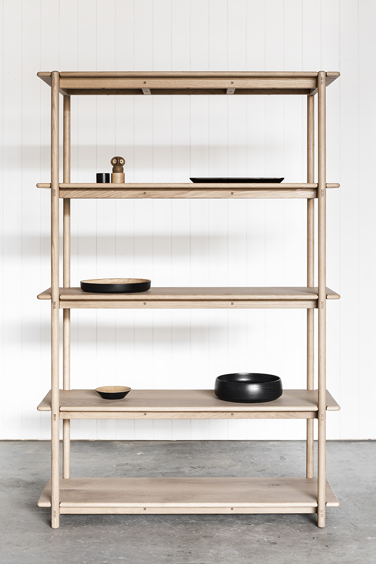 OAK SHELVING UNIT