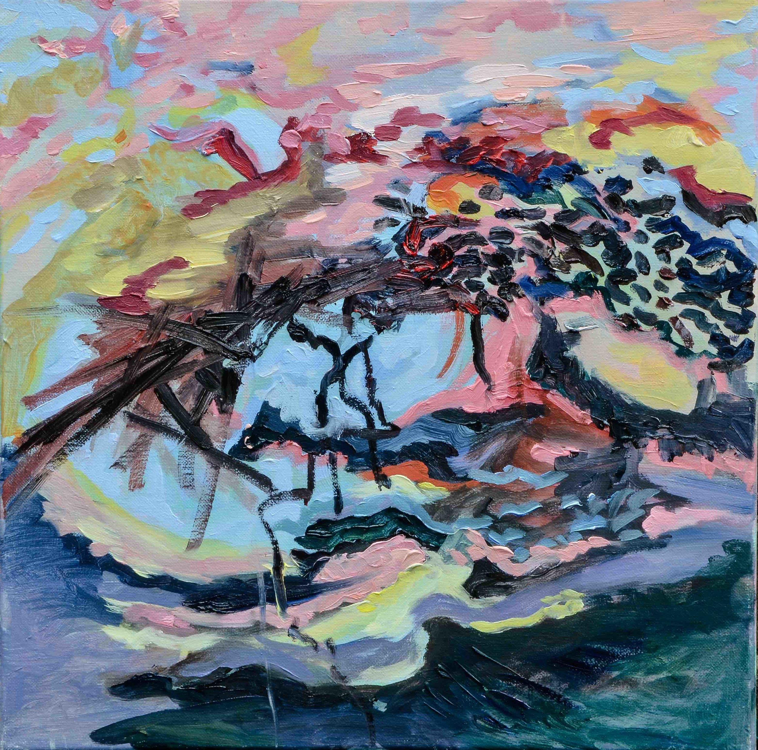 La debandade - Oil on Canvas - 40x40cm