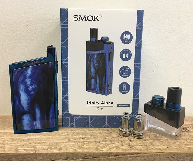 The new @smok_tech Trinity Alpha Kits are now available at both Mojo locations 🙌 These awesome little devices have a Hard, Normal and Soft setting !  They also take the Nord coils so you know the flavour is right 👌  #mojovapespeterborough #peterboroughvapers #smoktrinityalphakit #smoknordcoils #lowwattagedevices #nicsalts #flavourchasers #bigpunchsmallpackage