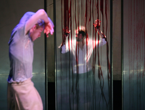 Macbeth (Blood on the dance floor)  2015   ICK & de Toneelmakerij  Liesbeth Coltof (De Toneelmakerij) directs and writes the script for this adaptation of  Macbeth with choreography by Emio Greco | Pieter C. Scholten in collaboration with Jesus De Vega.  A performance in which the body protests as humanity falls away.  Full credits, pictures, trailer and more info on the link below:.   http://www.ickamsterdam.com/en/productions/previous-productions/macbeth-24