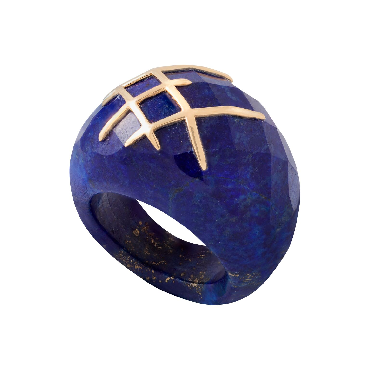 Lapis lazuli (Afghanistan) and 18k yellow gold ring