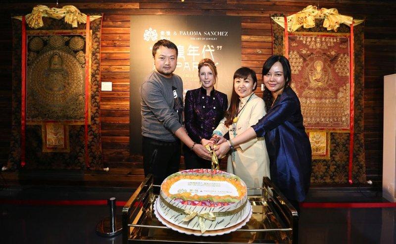Paloma with Duoyu brand founders Mr Yang Bei Ms Ba Yan Ms Suwa