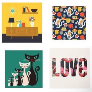 A4 prints by Gail Myerscough