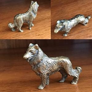 Cast Brass Collie Dog