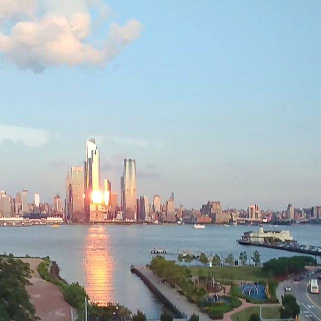 New York from New Jersey, yesterday.  #newyork #newyorkcity #newjersey #skyscraper #sunset