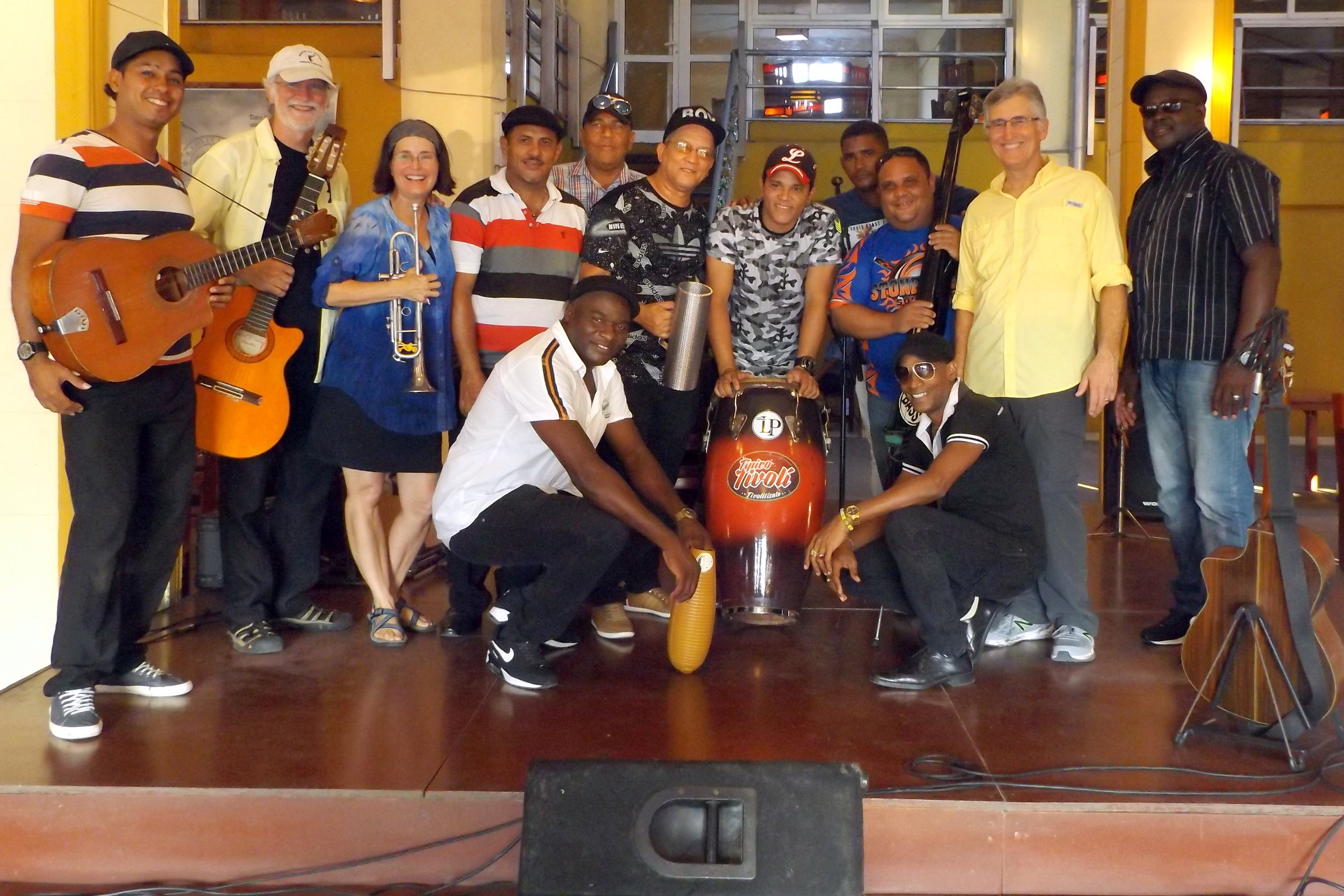 Performance in Santiago de Cuba at Cerveceria Puerto del Rey with Septeto Tipico Tivoli band, March 2018!