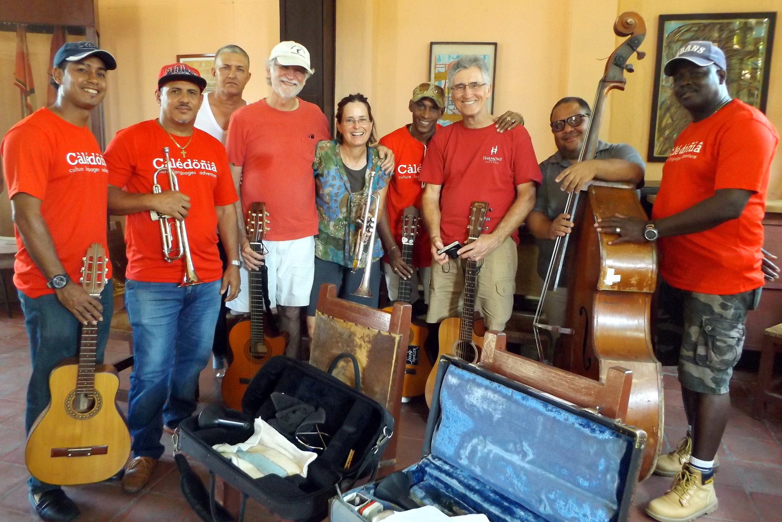 Rehearsal with Septeto Tipico Tivoli in Santiago de Cuba (March 2018)!