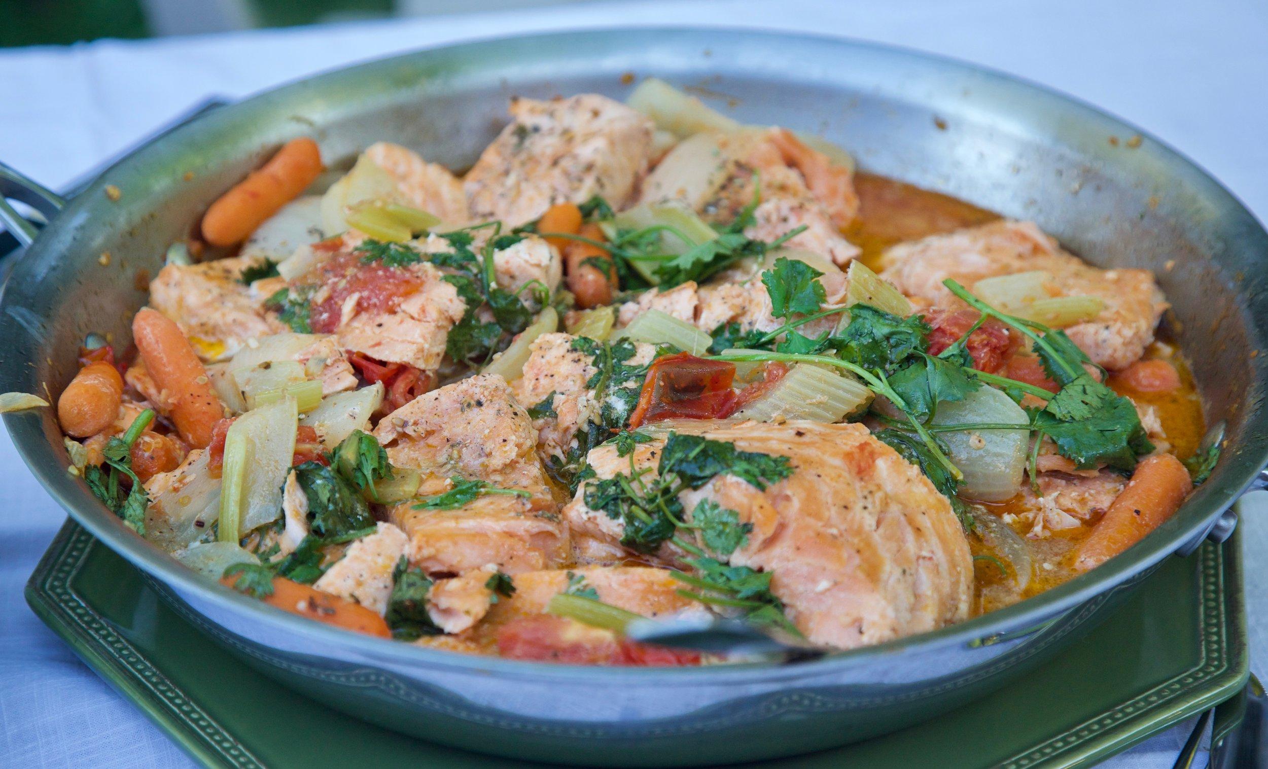 Jeanette's Peruvian salmon