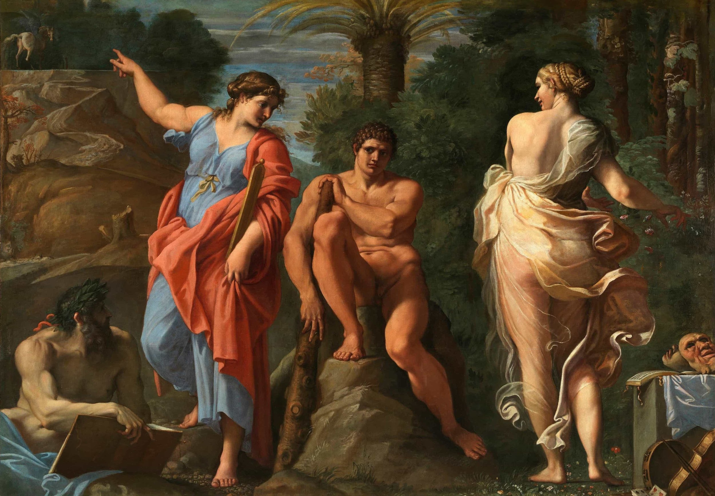 Annibale Carracci, Hercules at the Crossroads (1596)