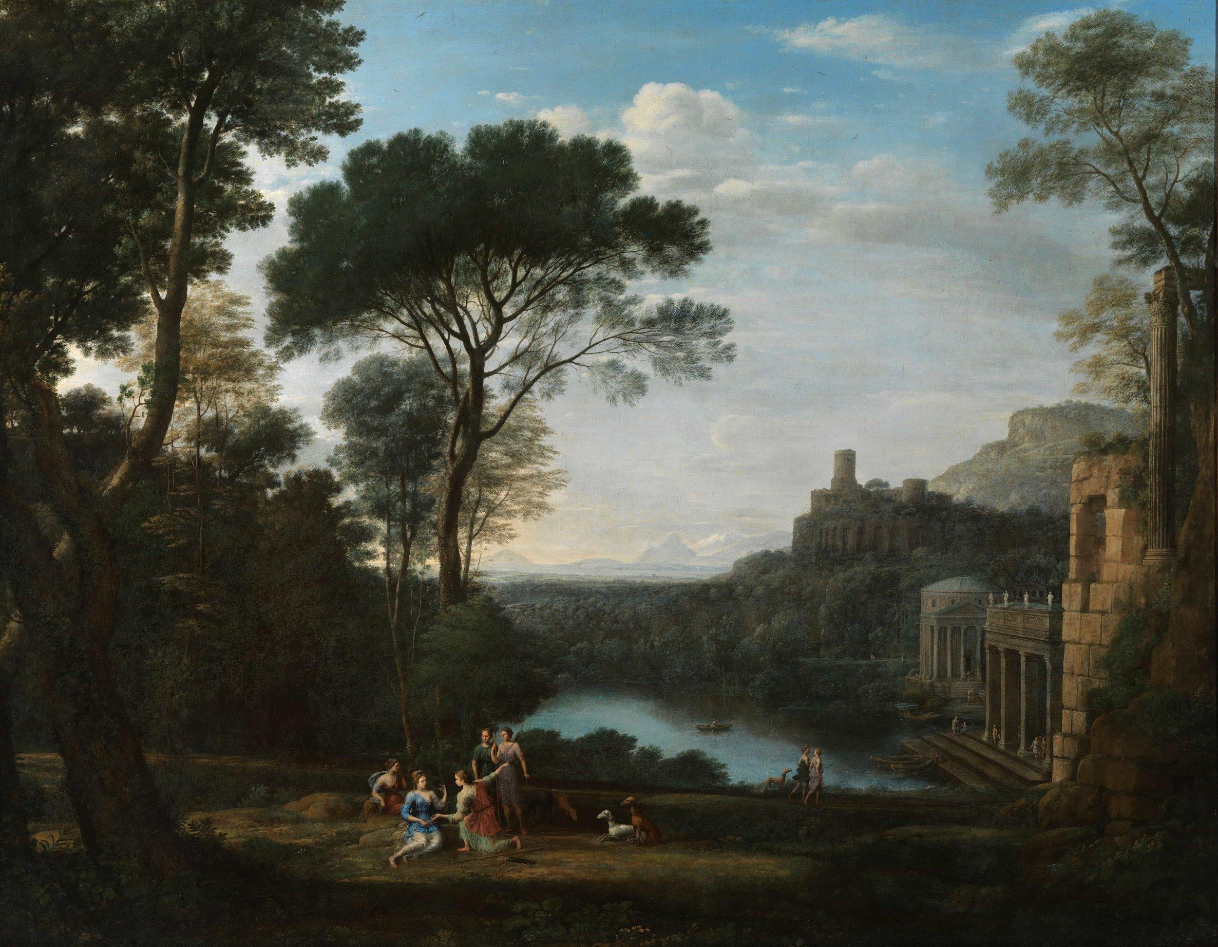 Claude Lorrain, Landscape with the Nymph Egeria (1669)