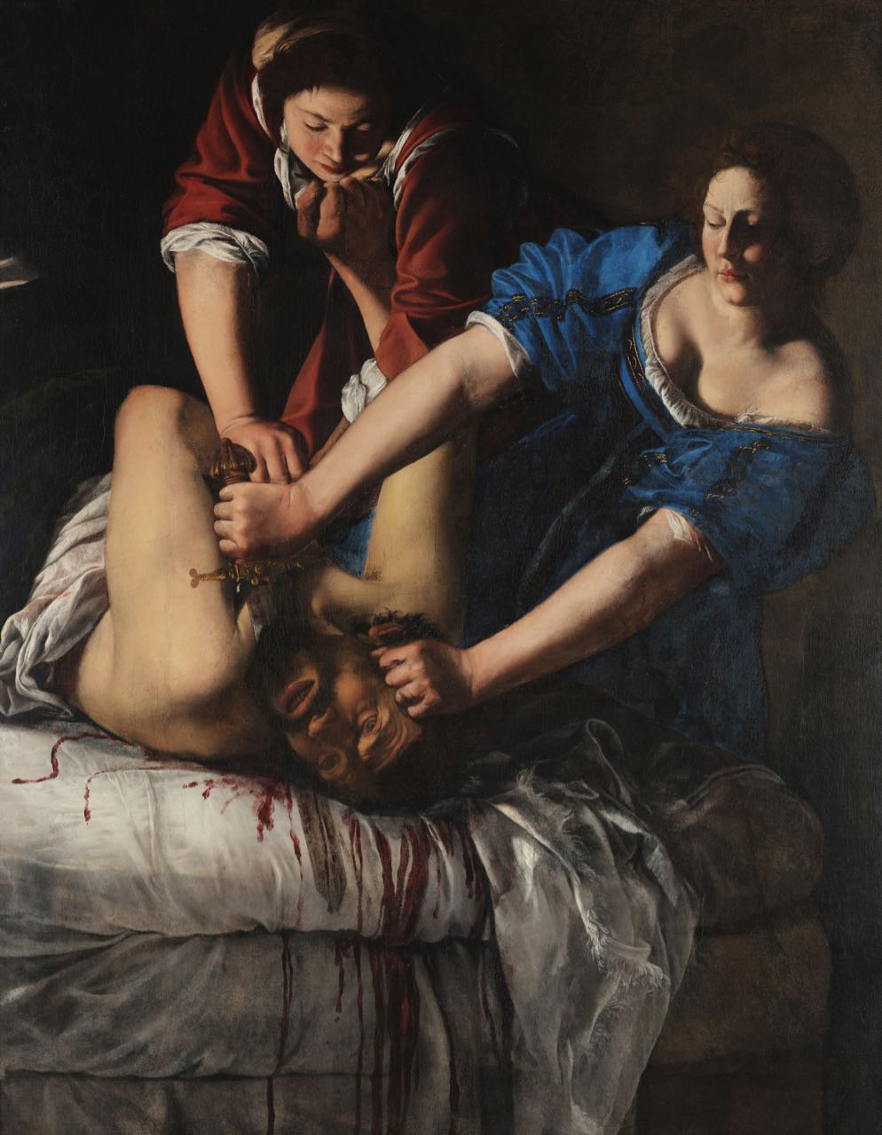 Artemisia Gentileschi,  Judith and Holofernes  (ca.1612-17), oil on canvas, 159 x 126 cm Museo e Real Bosco di Capodimonte, Naples