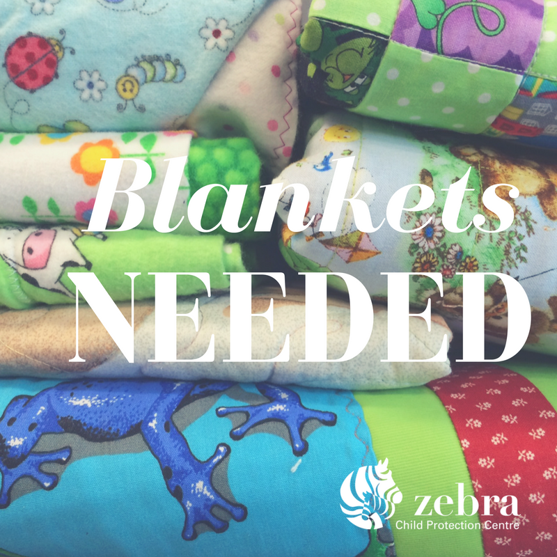 Homemade or new blankets are among our donation needs this holiday season.