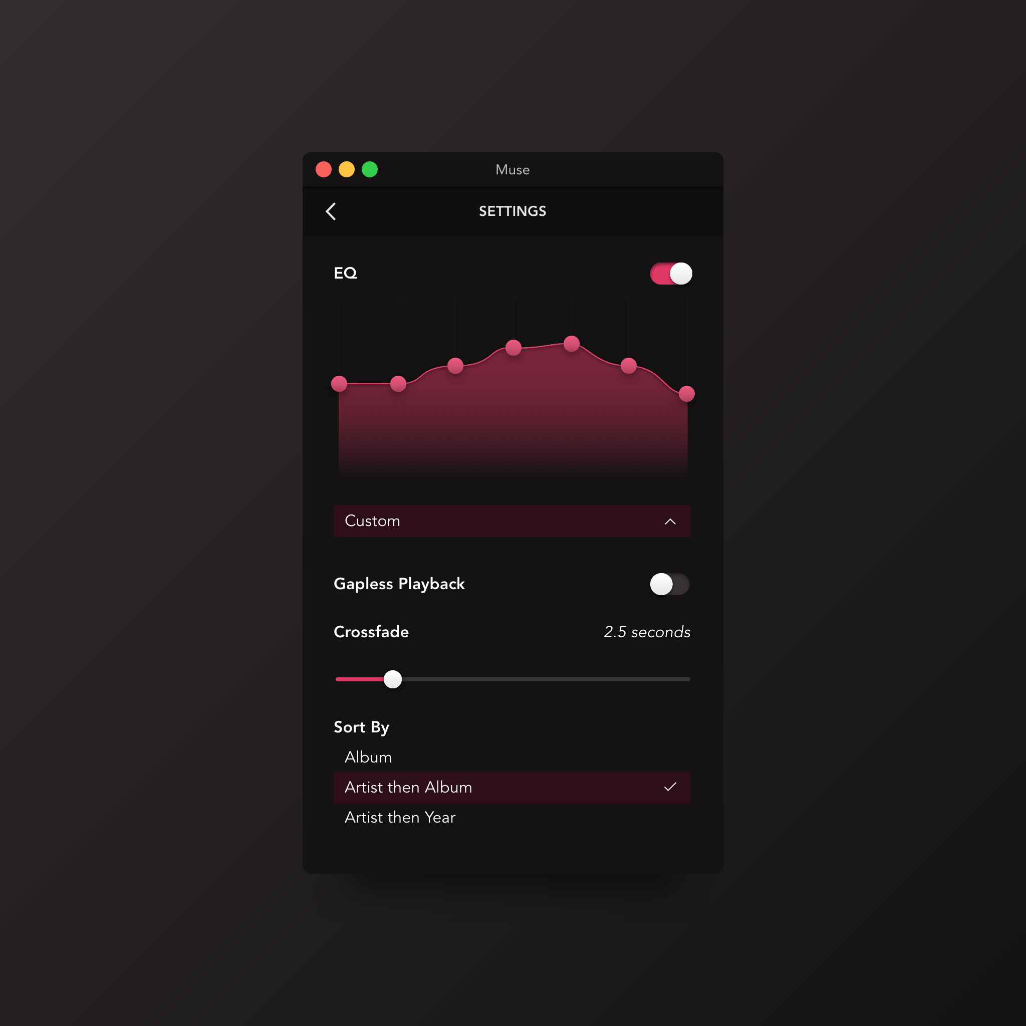 Daily UI #007—Settings