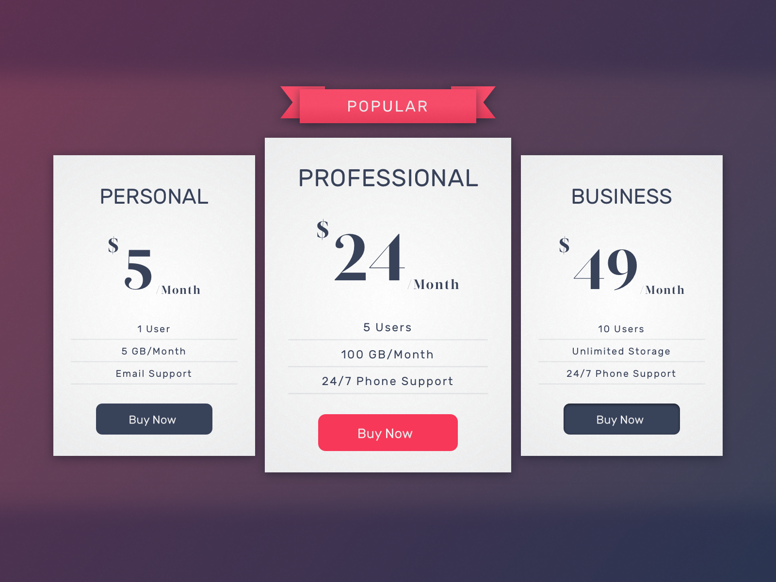 Daily UI #030—Pricing