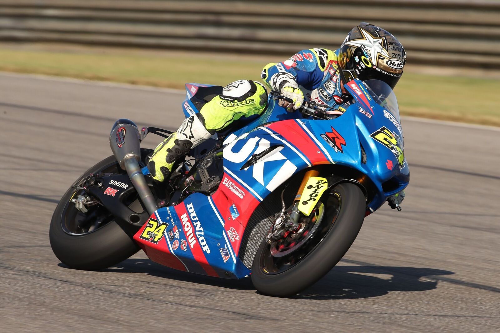 MotoAmerica Superbike Champion Toni Elias finished 2017 witha series-leading 10 victories aboard his Yoshimura Suzuki GSX-R1000. He is already tied with Wayne Rainey for eighth on the all-time MotoAmerica/AMA Superbike wins list. (Photo by Brian J. Nelson)