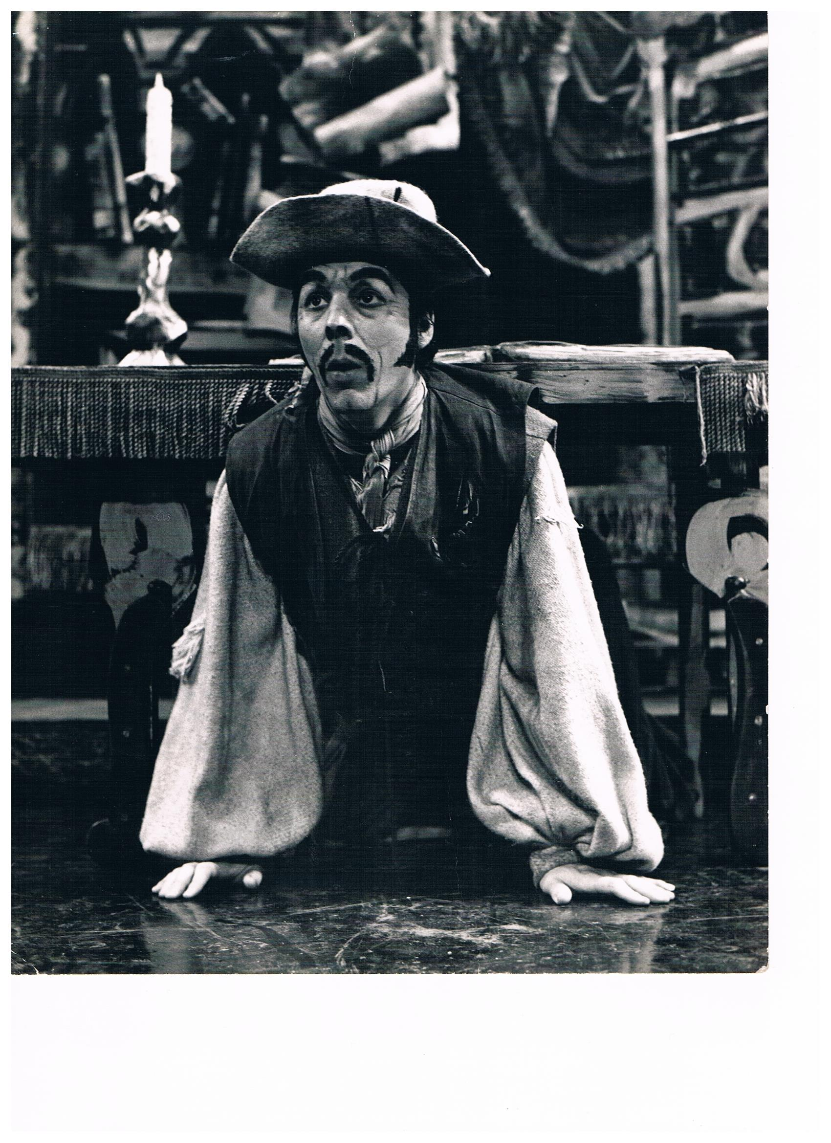 Terry performing as Sancho Panza in the London's Festival Ballet production of Don Quixote in 1972. This was a media shot for the London Coliseum season