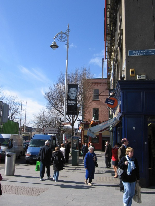 The view of Bachelor's Walk, where Mr. Bloom sees Dilly Dedalus, from O'Connell Street.