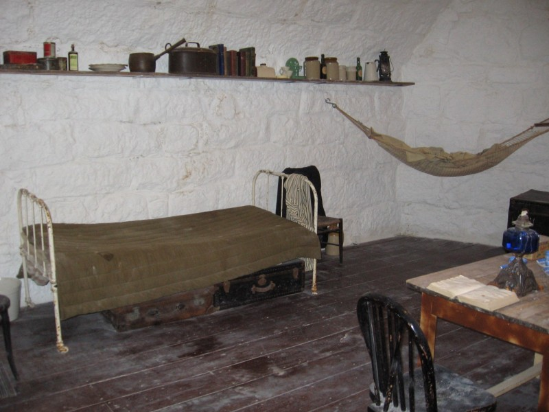 Haines's hammock and the living space of the Tower